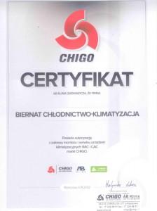 Certyfikat CHIGO