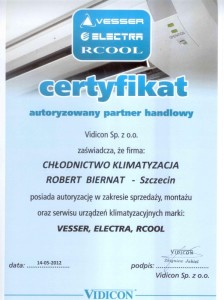 Certyfikat Electra