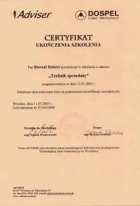 Certyfikat Dospel