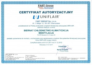 Certyfikat Fast Group