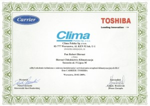 CertyfikatToshiba