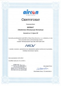 Certyfikat Aircon