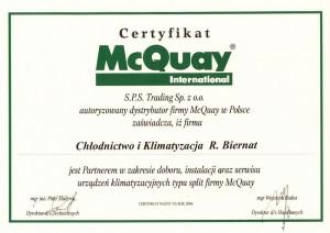 certyfikat mcquay