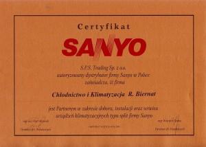 Certyfikat Sanyo